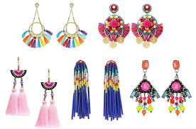 Colorful Chandelier Earrings Colorful Jewelry Woman Around Town