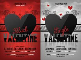 valentines flyer template black valentines day flyer template by christos andronicou