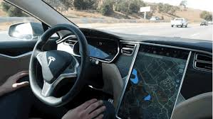 tesla takes the wheel driving a model s hands free