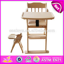 Infant High Chair Wholesale Wooden Baby Chair Comfortable Wooden Toy Baby Feeding