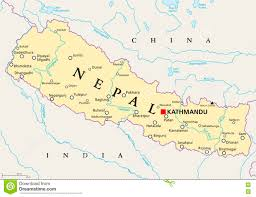 Nepal India Map by India Political Map Royalty Free Stock Photography Image 24729297
