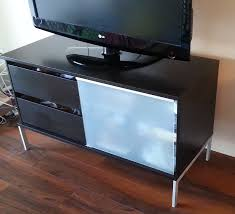 ikea tobo tv table stand bench black brown kingston great sale