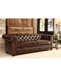 Distressed Chesterfield Sofa Shopping Special Abbyson Tuscan Top Grain Leather
