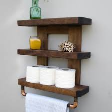 Wooden Shelves For Bathroom Bathroom Shelves