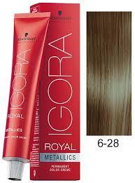 schwarzkopf igora royal metallics hair color 6 28 dark blond ash