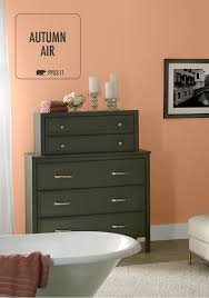 love the look of combining behr paint in autumn air orange with