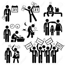 probleme icone bureau travailleur revenu des employés salaire problème financier chiffre