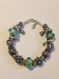 murano glass bangle bracelet images My clear teal flowers murano glass charms and flower pandora jpg