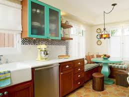 bright kitchen cabinets colorful painted kitchen cabinet ideas hgtv u0027s decorating