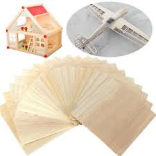 20x wooden plate model balsa wood sheets for diy house ship