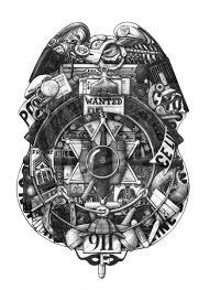 police badge ds art