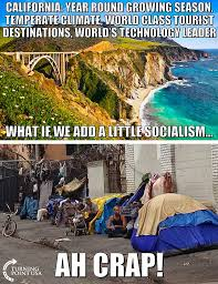 California Meme - hard truth what socialism did to california summed up by one meme