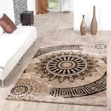 teppiche design teppiche palermo klassiches design wohnzimmer teppich braun beige