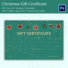 17 christmas gift certificate templates printable psd format