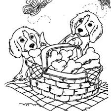 two little dog eating popcorn coloring page color luna