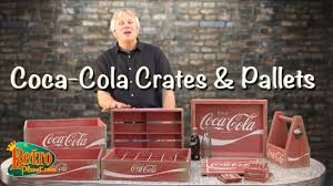 coca cola wood crates u0026 pallet accessories from retro planet youtube