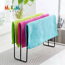 kitchen cabinet sponge holder towel iron rack kitchen cupboard hanging wash cloth organizer sponge