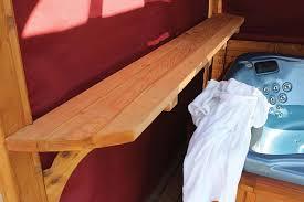 Gazebo With Bar Table Cedar Hot Tub Gazebos