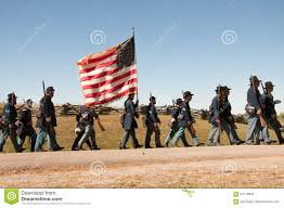 Civil War Union Flags Civil War Union Soldiers March With Flag Editorial Image Image