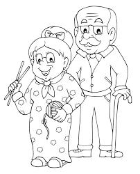 Grand parents 1 Personnages  Coloriages à imprimer