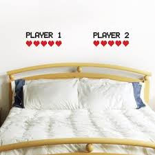 retro gamer bedroom wall decal player 1 player 2 u2013 zygomax