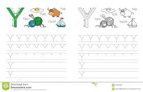 cartoon yak and yacht alphabet tracing worksheet writing a z a