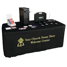 black display table cloth ministry display tablecovers