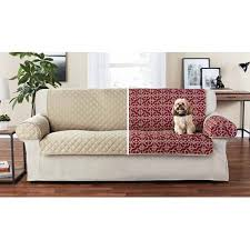 pet sofa covers that stay in place mainstays reversible microfiber printed fabric pet furniture sofa