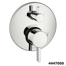 hansgrohe complete chrome raindance shower faucet set with