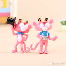 2018 the pink panther toys dolls pinkpanther diy key buckle indoor