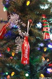 a coca cola and 2 diy coke bottle ornament