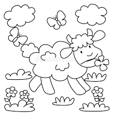 sheep coloring royalty free stock image image 32059756