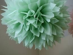 celedon tissue paper pompom vintage romantic boho wedding