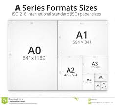 size of format a paper sheets stock vector image 39589350