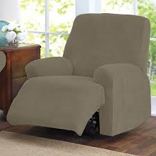 furniture grey upholstered recliners chair plus brown stained