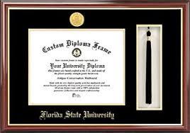 fsu diploma frame florida state seminoles gold medallion
