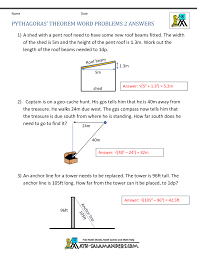 Worksheet Works Calculating Area And Perimeter Answers Pythagoras Theorem Questions