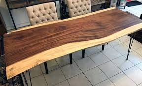 natural wood table top live edge walnut table natural or live edge exotic wood slab for a