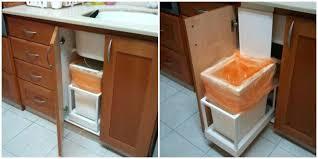 garbage can under the sink under sink garbage can pull out garbage can under sink surprising