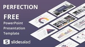 perfection free powerpoint presentation template slidesalad