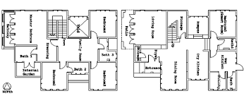 Floor Plans For Bungalows Architecture Plans Of Bungalow House First Floor A Ground Floor B