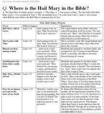 where is the hail in the bible being catholic