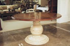 distressed pedestal table home design photo gallery