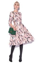 fuste clos rochie clos cu imprimeu floral rz9162 nissa