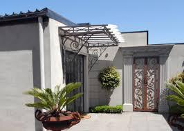Decorative Metal Awnings Courtyard Awning And Door Panels Decorative Metal