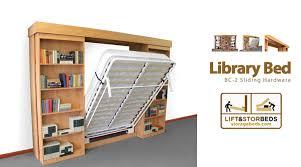 Fold Up Bookcase Library Bed Bc 2 Sliding Diy Hardware Kit Lift U0026 Stor Beds