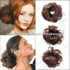 bun scrunchie hair bun curly wave scrunchie synth end 4 28 2018 11 15 pm