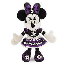 Skeleton Dress Your Wdw Store Disney Plush Halloween Minnie Mouse In Skeleton