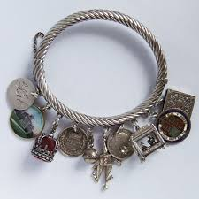 bangle charm bracelet sterling silver images 319 best vintage charms bracelets images vintage jpg