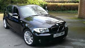 bmw 1 series 118d m sport 2 0 black with 1 2 leather interior in